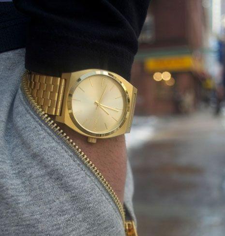 Pánské zlaté hodinky