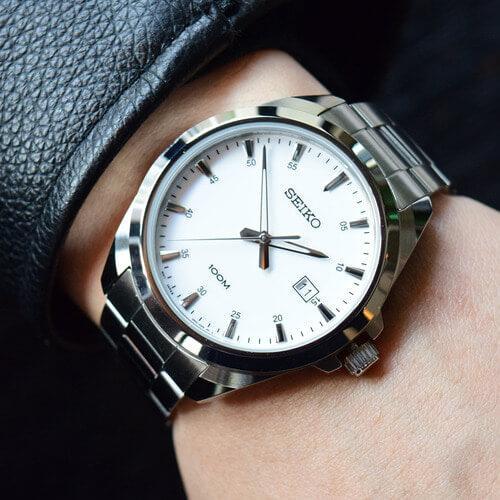 Pánské bílé hodinky