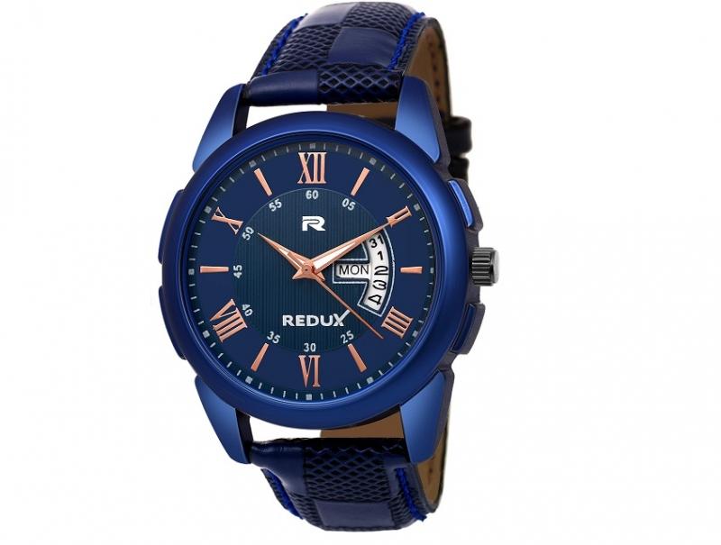 Pánské modré analogové hodinky Redux