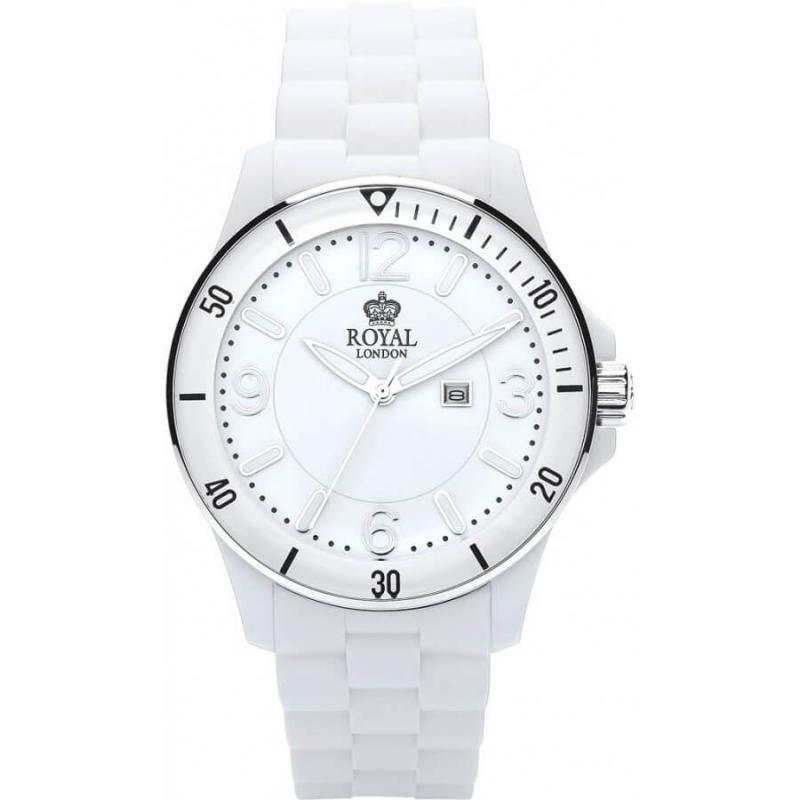 Bílé hodinky pro muže Royal London