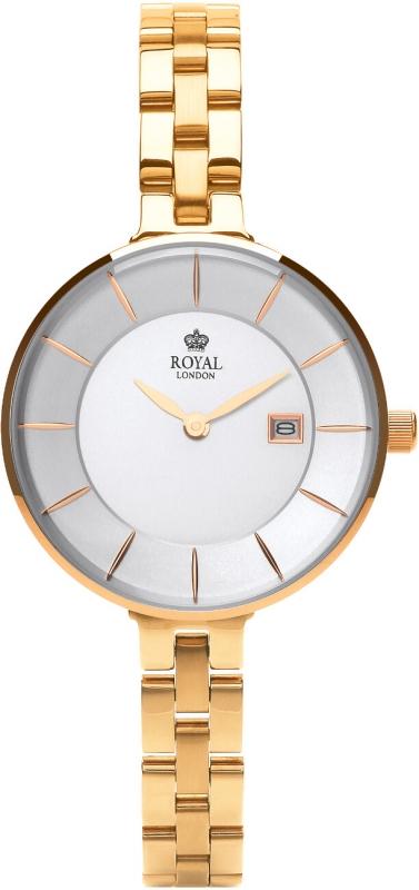 Dámské zlaté hodinky Royal London