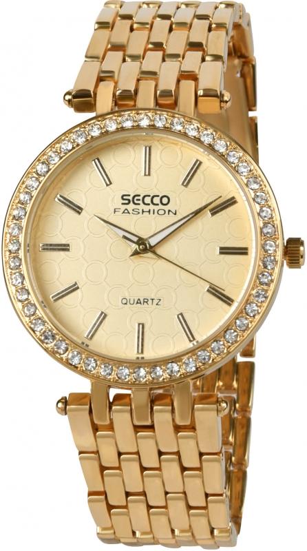 Dámské zlaté hodinky Secco