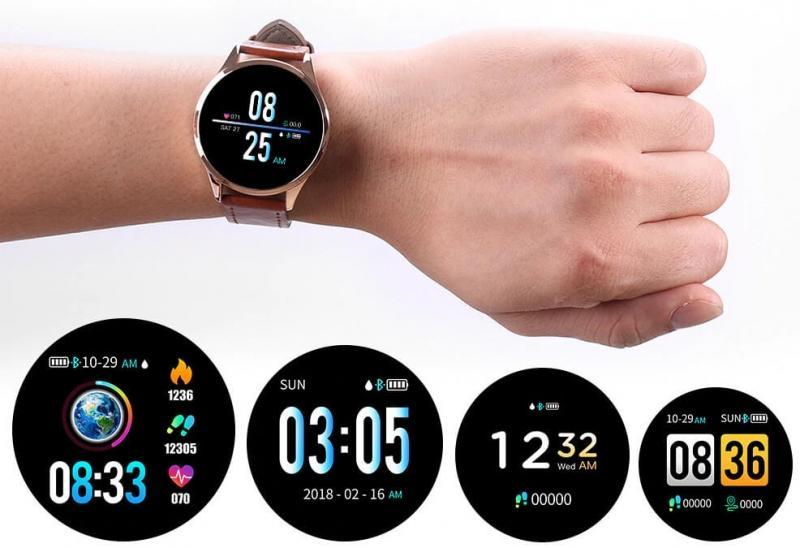 Chytré černé hodinky
