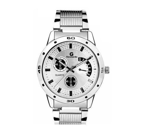 Pánské stříbrné hodinky se světlým ciferníkem