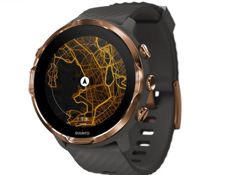 Černé hodinky pro muže Suunto 7 Graphite Copper