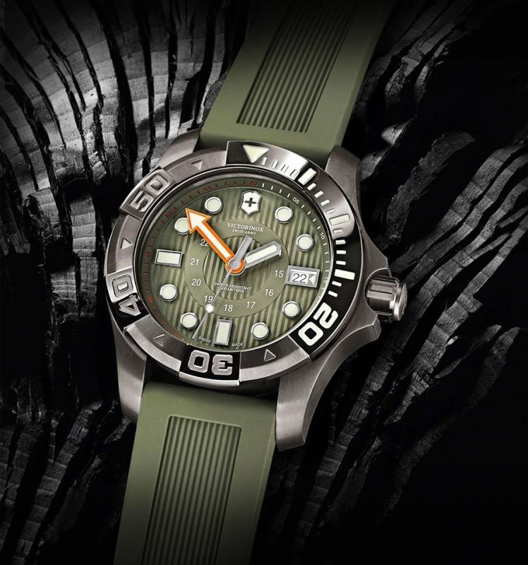 victorinox swiss army dive master 500 green face