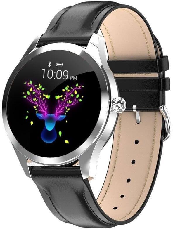 Černé chytré hodinky Wotchi SmartWatch W19B